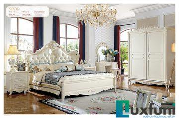 Giường ngủ tân cổ điển đẹp 9016