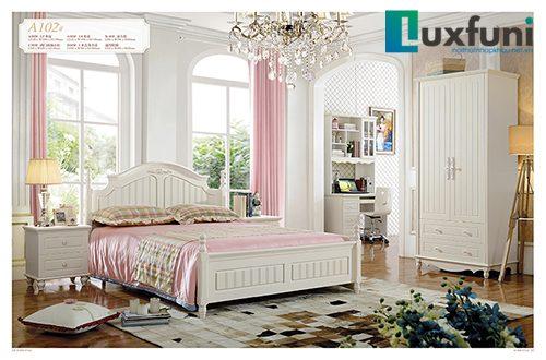 Giường ngủ tân cổ điển đẹp A102
