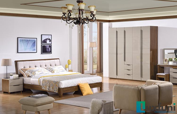 Giường ngủ hiện đại BOF 366 Tủ 365