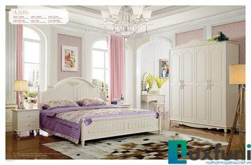 Giường ngủ tân cổ điển đẹp A105