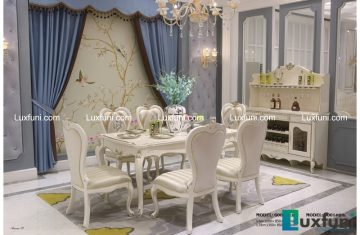 Hình ảnh phản ánh chân thực màu sắc và kiểu dáng của bàn ăn Tommy Ngọc Trai 6001