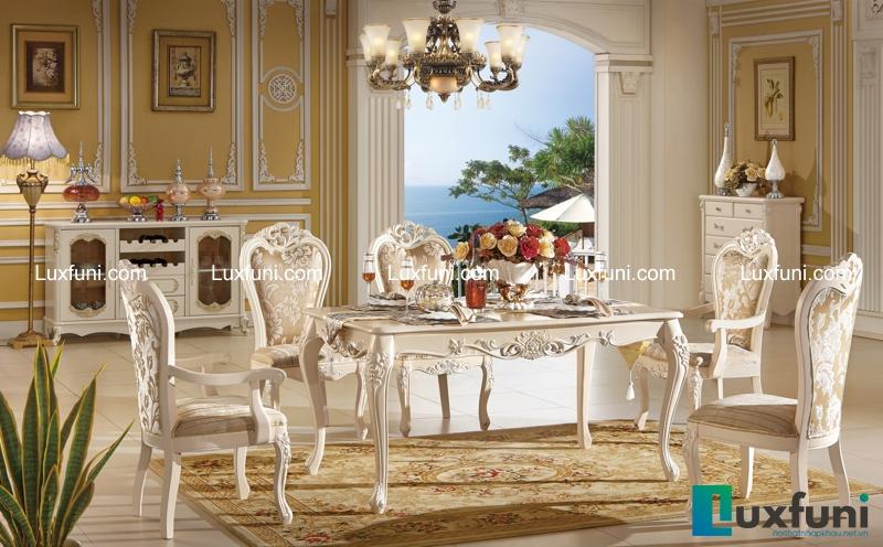 Bộ bàn ăn Tommy Ngọc Trai 910 chính là một tuyệt tác đặt giữa không gian sống của gia đình bạn