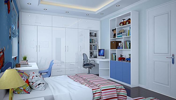 Gợi ý cách kê tủ quần áo hợp lý cho phòng ngủ nhỏ hẹp-001
