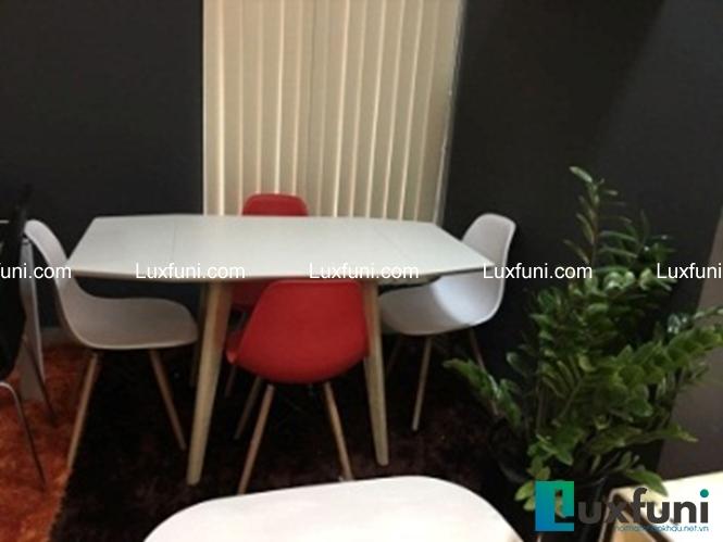 Bộ bàn ghế ăn LD được thiết kế theo phong cách trẻ trung và hiện đại