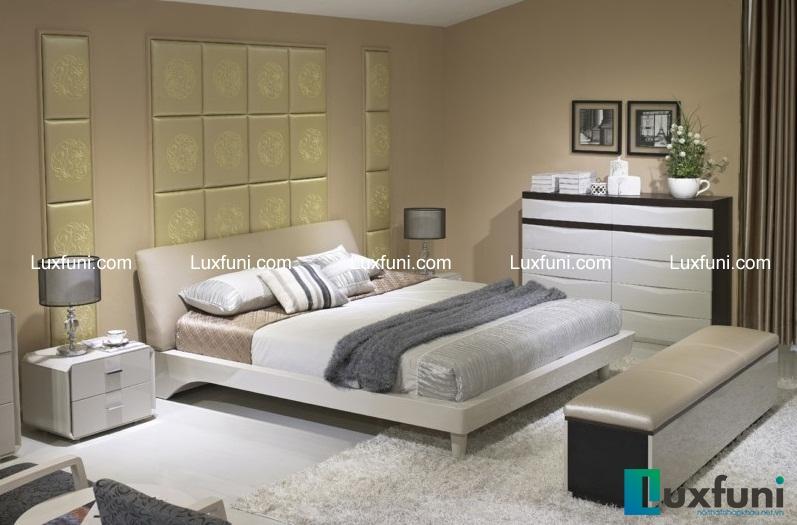 Thiết kế và chất liệu của sản phẩm giường ngủ hiện đại 4A076 sẽ mang đến sự êm ái, dễ chịu tuyệt đối cho người sử dụng