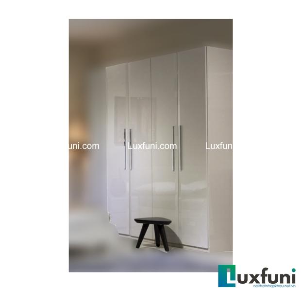 Tủ quần áo sáng bóng mang phong cách tinh tế, đơn giản