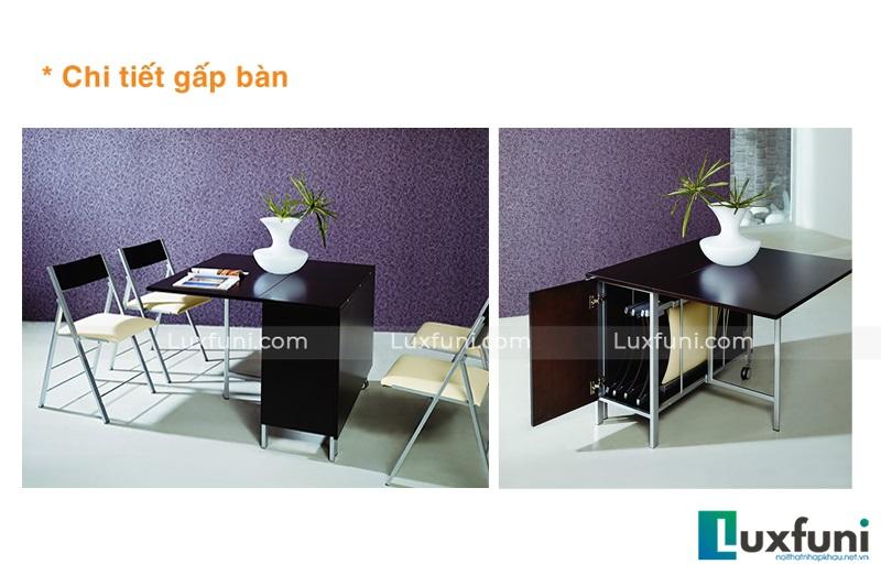 Bộ bàn ăn thông minh B2208 (1 bàn+4 ghế)-2
