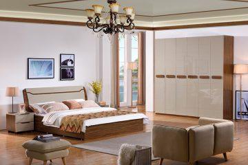 Bộ Giường ngủ hiện đại đẹp BOF 363#