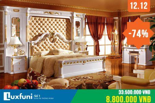 Giường ngủ cổ điển 3028 thanh lý