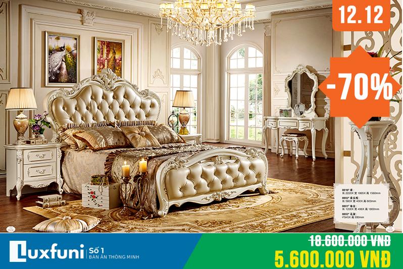 Giường ngủ ngọc trai 8816X thanh lý