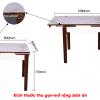 Bộ bàn ăn thông minh 863 (Kèm 4 ghế)-7