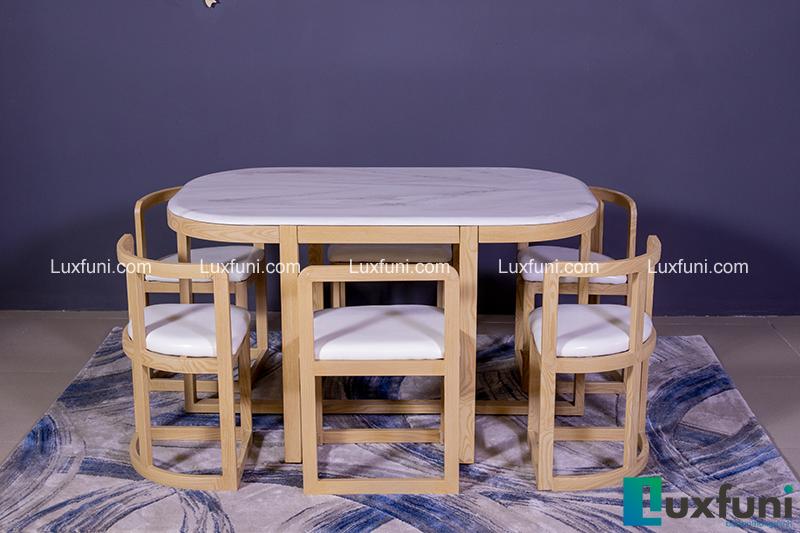 Bộ bàn ăn thông minh C1 (Kèm 6 ghế)-2