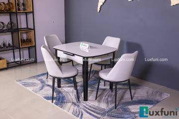 Bộ bàn ăn thu gọn mở rộng B68 (Kèm 4 ghế)-1