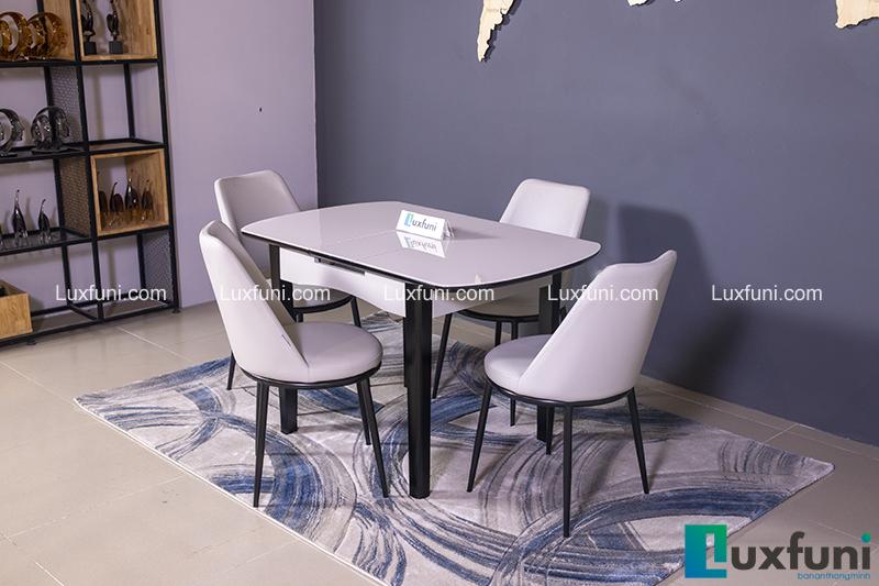 Bộ bàn ăn thu gọn mở rộng B68 (Kèm 4 ghế)-2