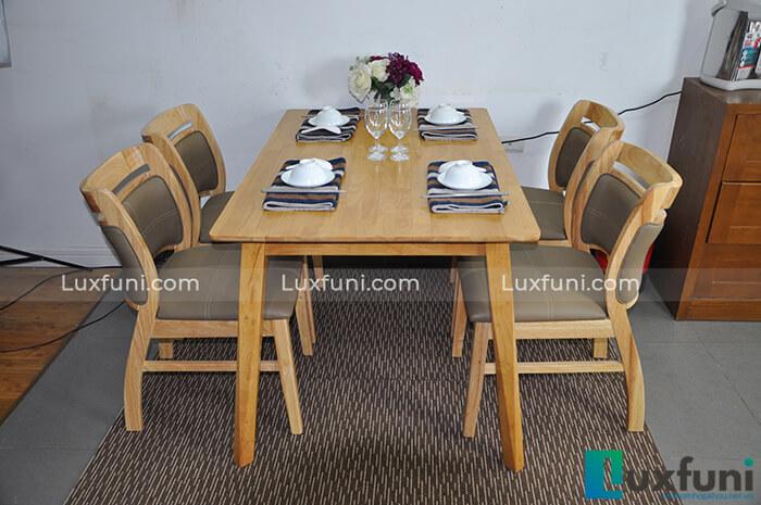 15+ Mẫu bàn ăn gỗ sồi cao cấp đẹp mê li-02