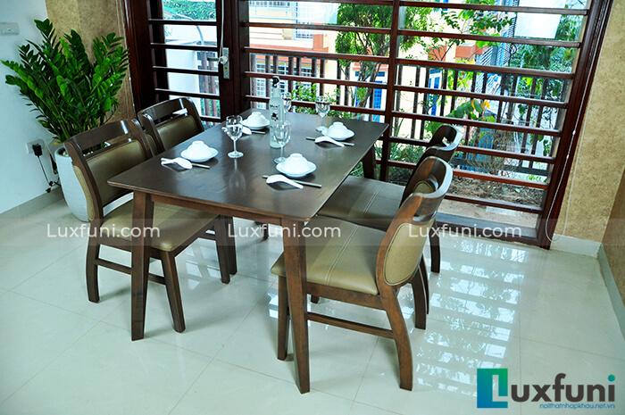 15+ Mẫu bàn ăn gỗ sồi cao cấp đẹp mê li-03