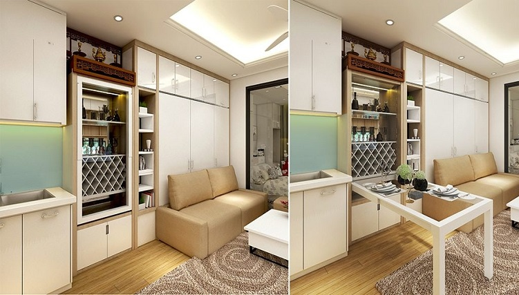 Bàn ăn gấp tường - lựa chọn thông minh cho căn bếp hiện đại