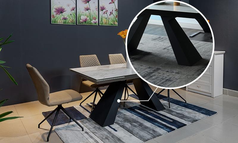Khung và chân bàn bằng hợp kim sơn tĩnh điện
