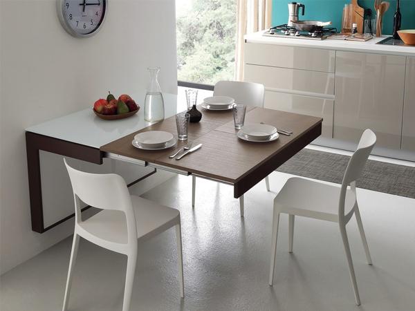 Mẫu bàn ăn gắn tường hiện đại làm đẹp cho không gian