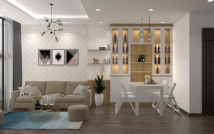 Bàn ăn thông minh kết hợp tủ rượu dành cho ngôi nhà hiện đại 2020-3