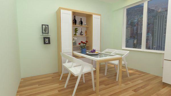 Bàn ăn thông minh kết hợp tủ rượu dành cho ngôi nhà hiện đại 2020-9