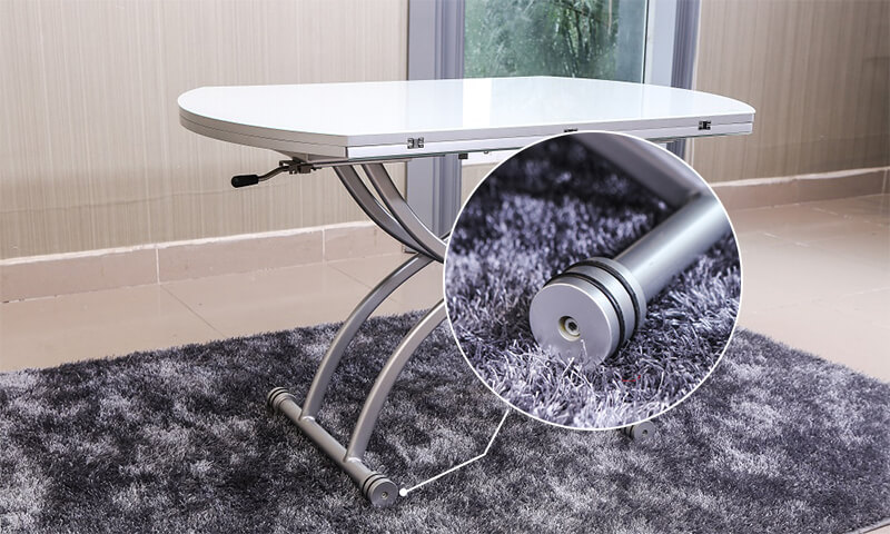 Chân bàn tích hợp bánh xe di chuyển