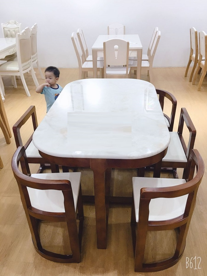 Bộ bàn ăn 6 ghế xếp gọn - lựa chọn thông minh cho nhà bếp hiện đại