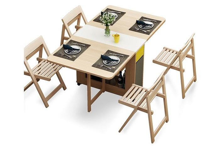 Những mẫu bàn ăn thông minh gấp gọn bán chạy nhất hiện nay