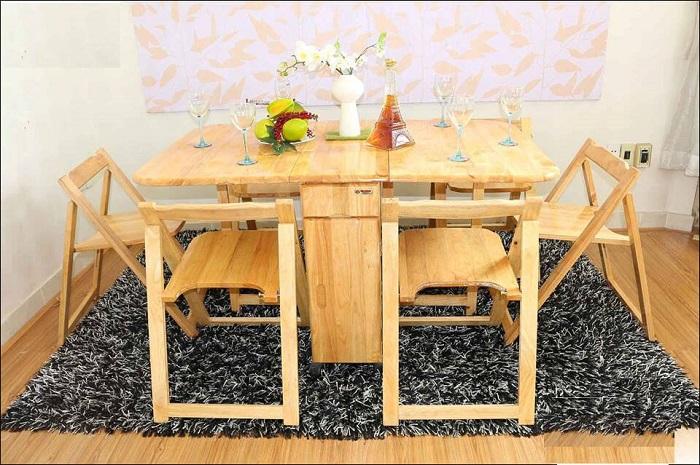 Ưu nhược điểm của bàn ăn gỗ gấp gọn