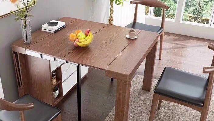 Bàn ghế ăn thông minh gấp gọn tiết kiệm diện tích tối ưu-04