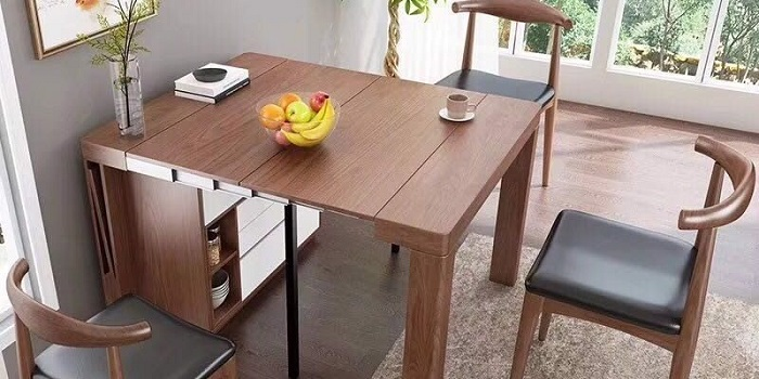 Cách bài trí các mẫu bàn ăn gấp gọn