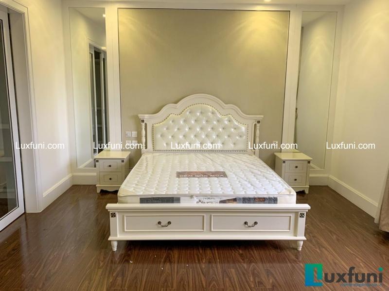 Giường ngủ tân cổ điển Bắc Mỹ 8605C-2