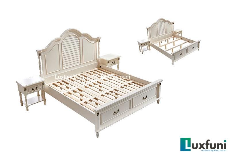 Giường ngủ tân cổ điển Bắc Mỹ 8605C-3