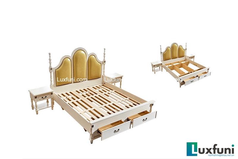 Giường ngủ tân cổ điển Bắc Mỹ 8605C-4