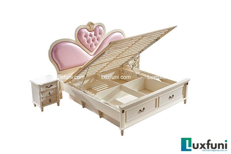Giường ngủ tân cổ điển Bắc Mỹ 8605C-5