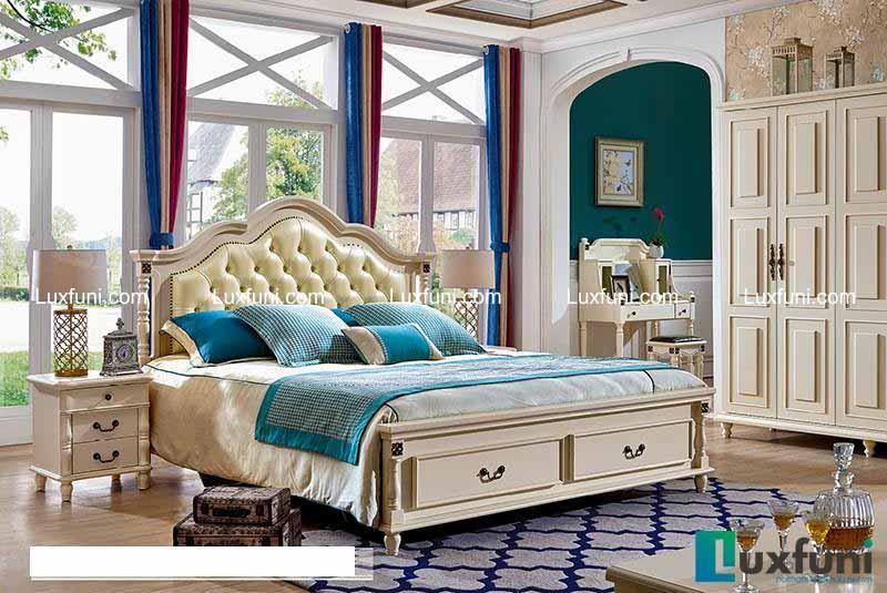 Giường ngủ tân cổ điển Bắc Mỹ 8605C