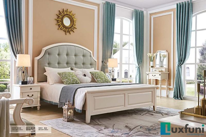 Giường ngủ tân cổ điển Bắc Mỹ 8630-2
