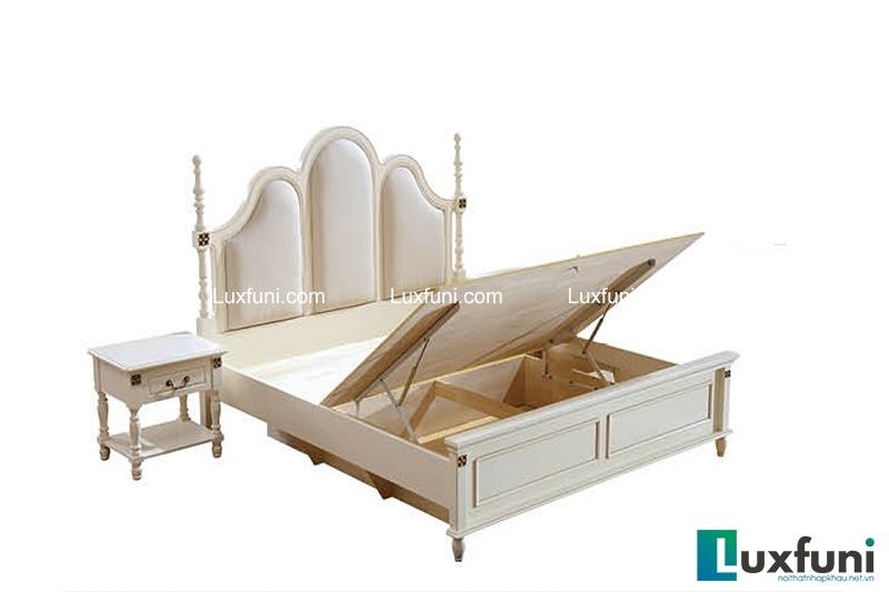 Giường ngủ tân cổ điển Bắc Mỹ 8630-6