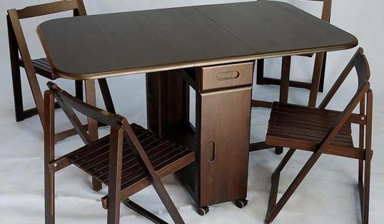 Mẫu bàn ăn thông minh gỗ sồi cao cấp hot nhất 2020-04