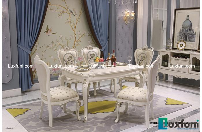 Mẫu bàn ghế ăn tân cổ điển mang đậm phong cách châu Âu-01
