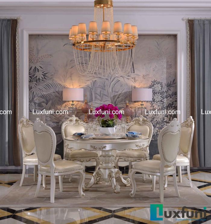 Mẫu bàn ghế ăn tân cổ điển mang đậm phong cách châu Âu-02