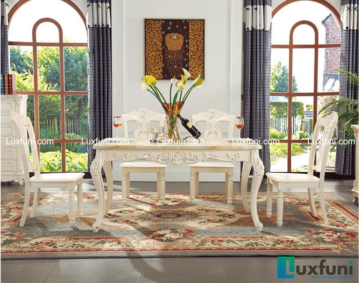 Mẫu bàn ghế ăn tân cổ điển mang đậm phong cách châu Âu-03