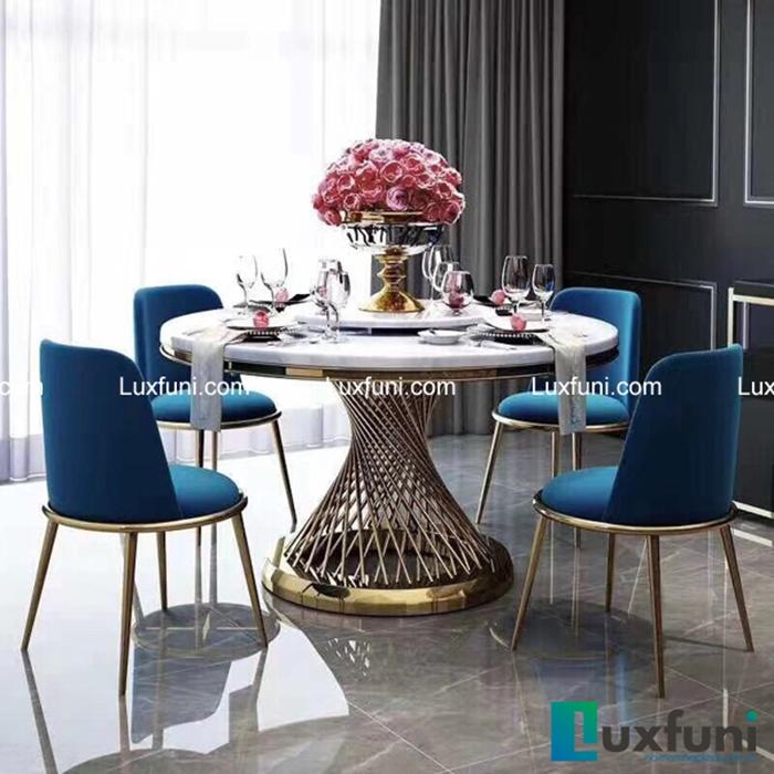 Mẫu bàn ghế ăn tân cổ điển mang đậm phong cách châu Âu-05
