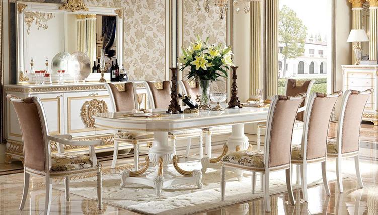 Mẫu bàn ghế ăn tân cổ điển mang đậm phong cách châu Âu-07
