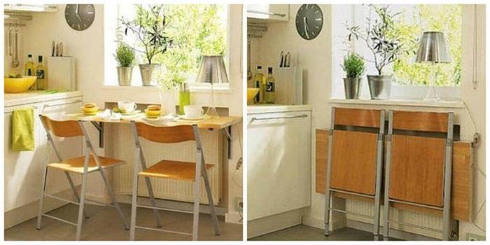 Trọn bộ bàn ăn thông minh treo tường cho nhà nhỏ-03