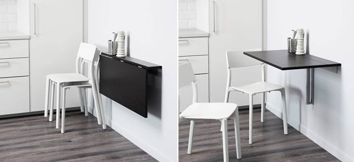 Trọn bộ bàn ăn thông minh treo tường cho nhà nhỏ-6