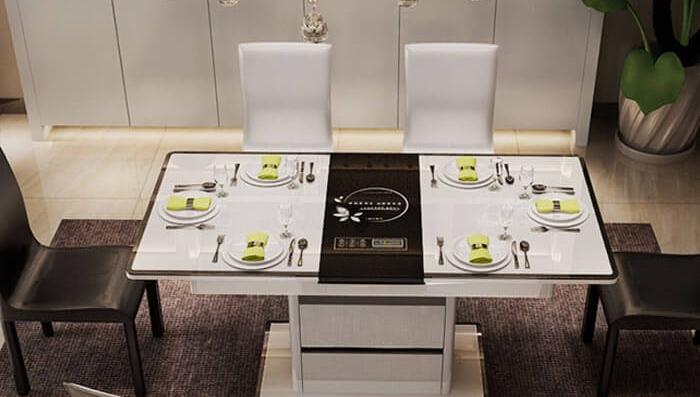 Top 8 bàn ăn thông minh có bếp từ, gấp gọn mở rộng bán chạy hiện nay-8