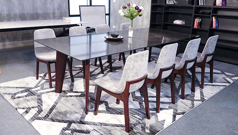 Bộ bàn ăn 8 ghế mặt kính