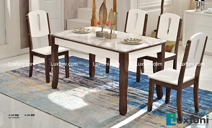 Bộ bàn ăn đẹp mặt đá A10