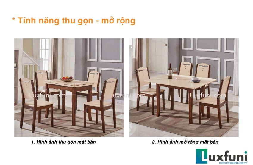 Bộ bàn ăn mặt kính C55